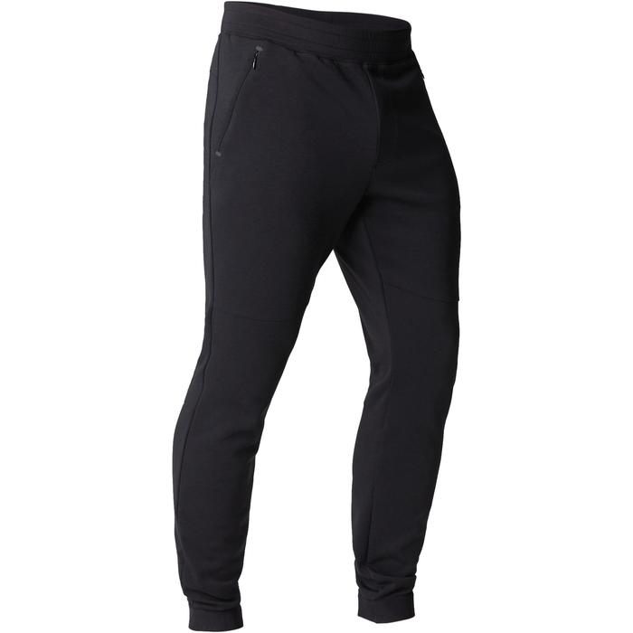 Herenbroek 560 voor gym en stretching, slim fit, zwart