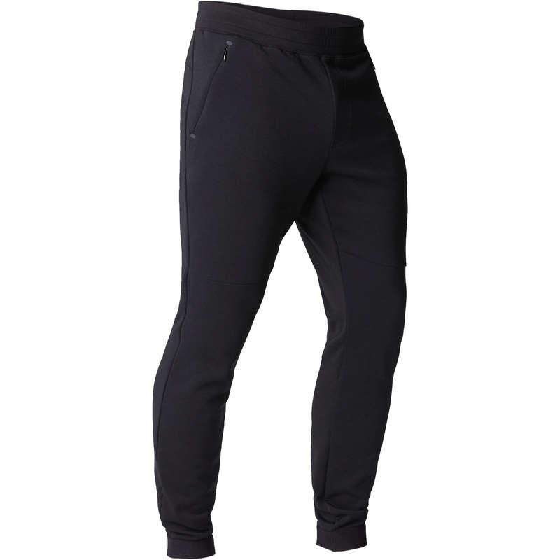 MAN GYM, PILATES COLD WEATHER APPAREL - 560 Slim Gym Bottoms - Black DOMYOS