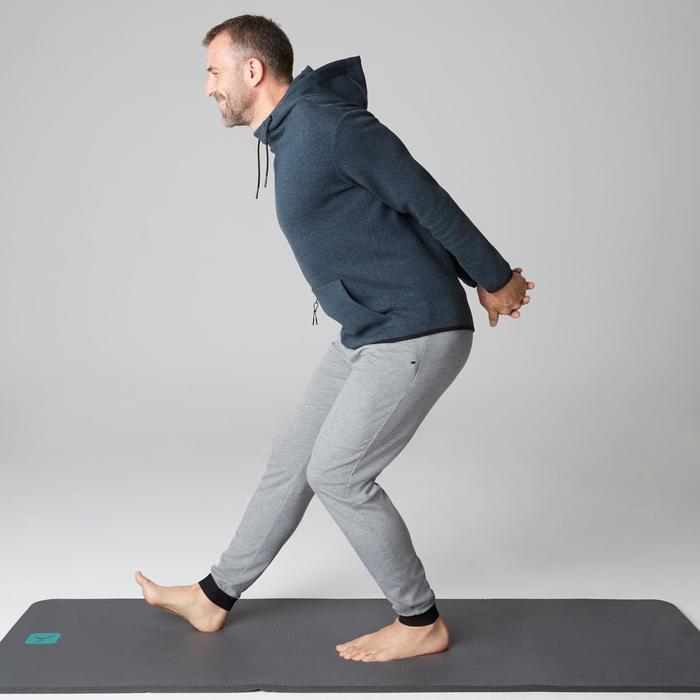 Herenbroek 560 slim fit voor gym en stretching lichtgrijs