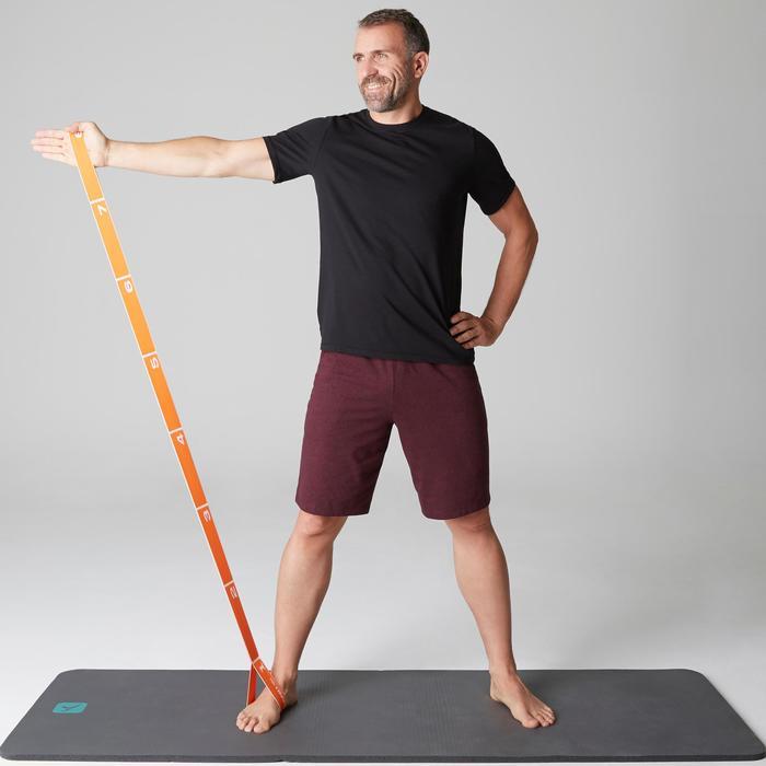 Short 500 regular largo sobre rodillas Pilates y Gimnasia suave hombre burdeos