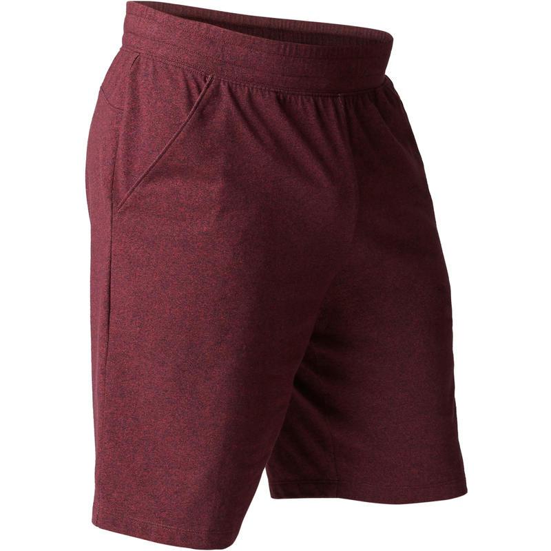 29d45f0f02dc Summer Collection 500 Knee-Length Regular-Fit Gentle Gym   Pilates Shorts -  Burgundy