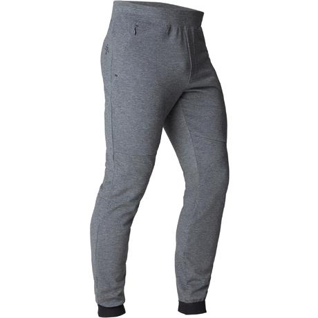 Pantaloni uomo slim gym stretching 560 grigio scuro  95e1ef1b02d4