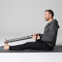 Herenbroek voor zachte gym en pilates 560 Slim zwart