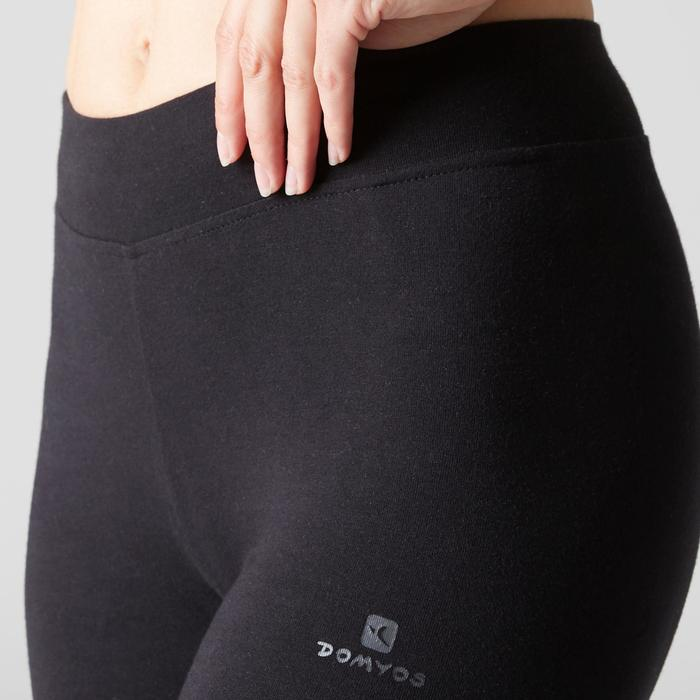 Legging FIT+ 500 slim fit gym en stretching dames zwart