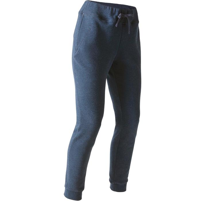 Damesbroek 520 voor gym en stretching slim fit blauw