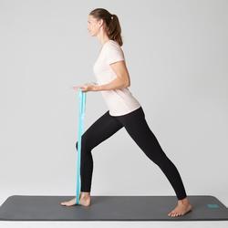 Legging Stretch 100 slim fit pilates en lichte gym dames zwart