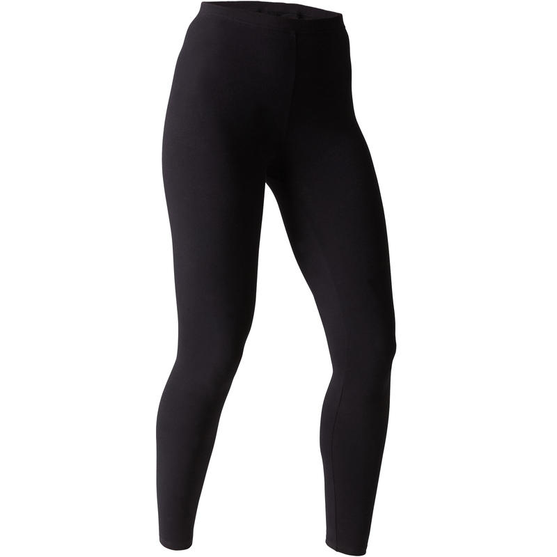 Cotton Fitness Leggings Salto - Black