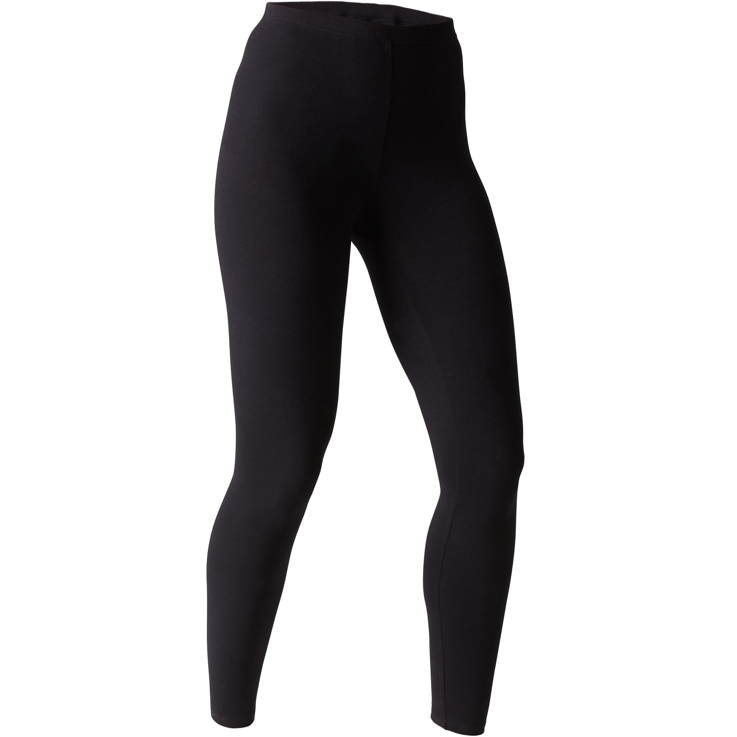 Leggings Stretch 100 slim Pilates y Gimnasia suave mujer negro