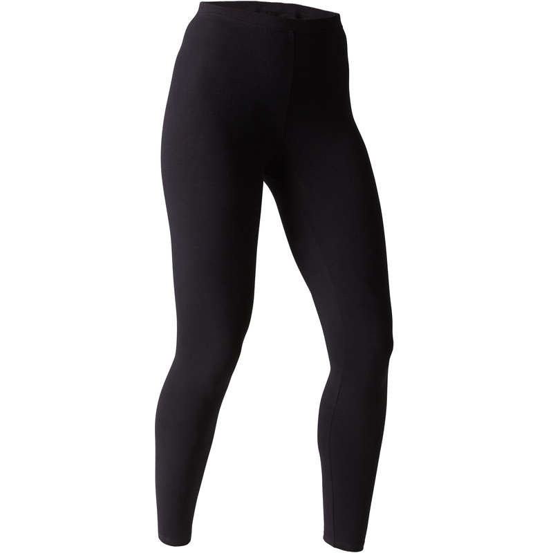 WOMAN T SHIRT LEGGING SHORT Fitness and Gym - Women's Gym Leggings - Black NYAMBA - Gym Activewear