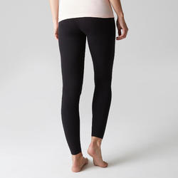Stretch Legging Pilates & Gym Slim-Fit 100 Wanita - Hitam