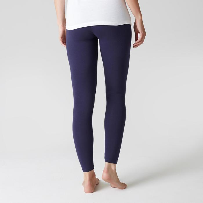 Leggings Stretch 100 slim Gimnasia Stretching mujer azul marino