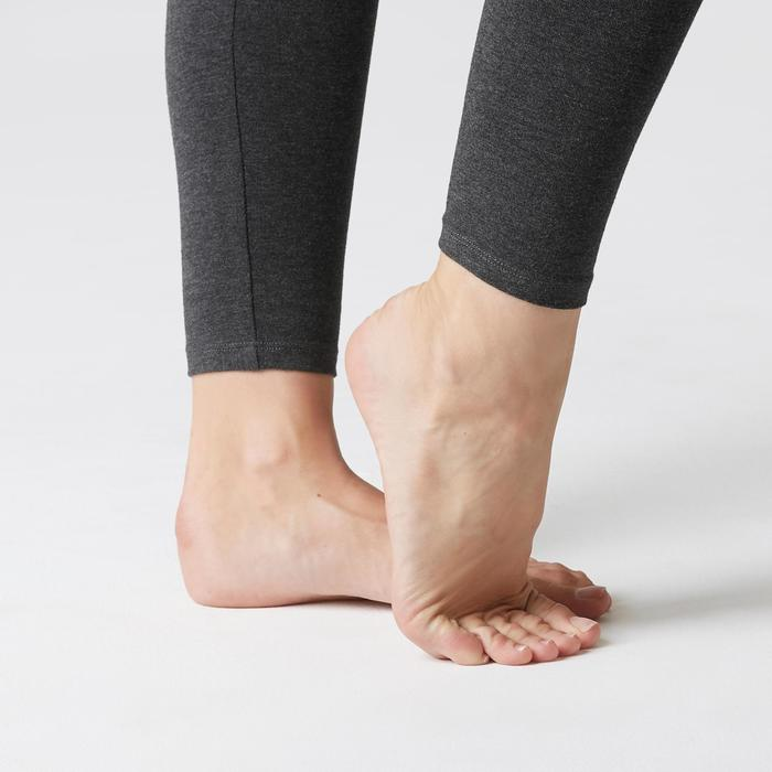 Leggings Stretch Gym & Pilates Damen dunkelgrau
