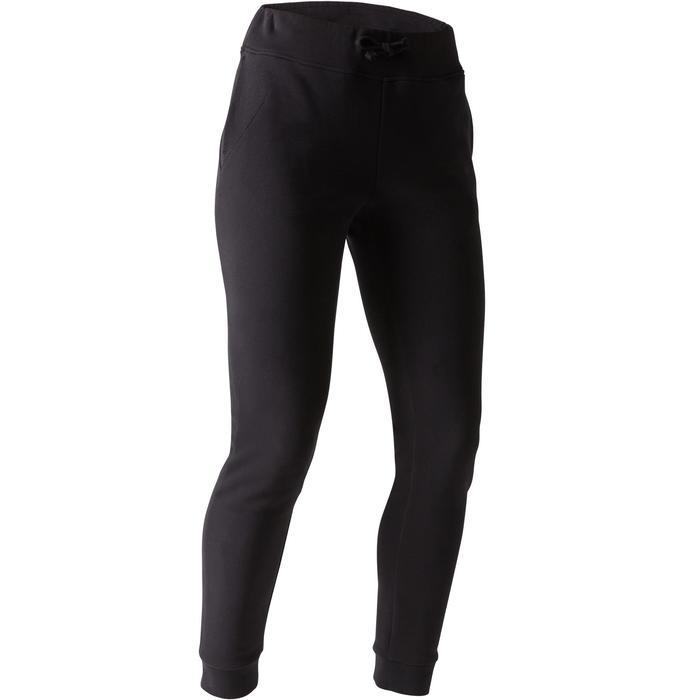 Damesbroek 520 voor gym en stretching slim fit zwart