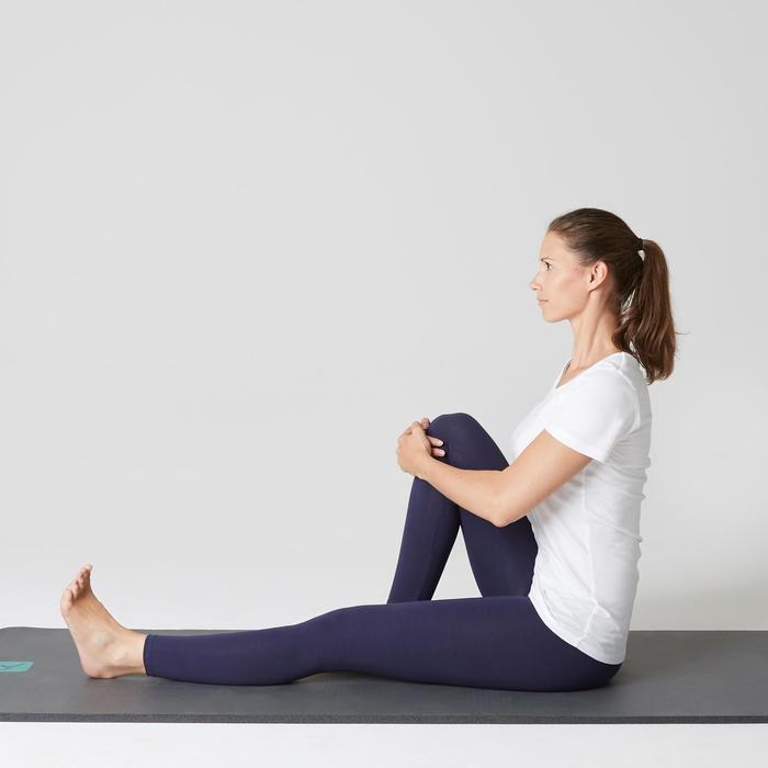Legging sport Strech femme en coton bleu