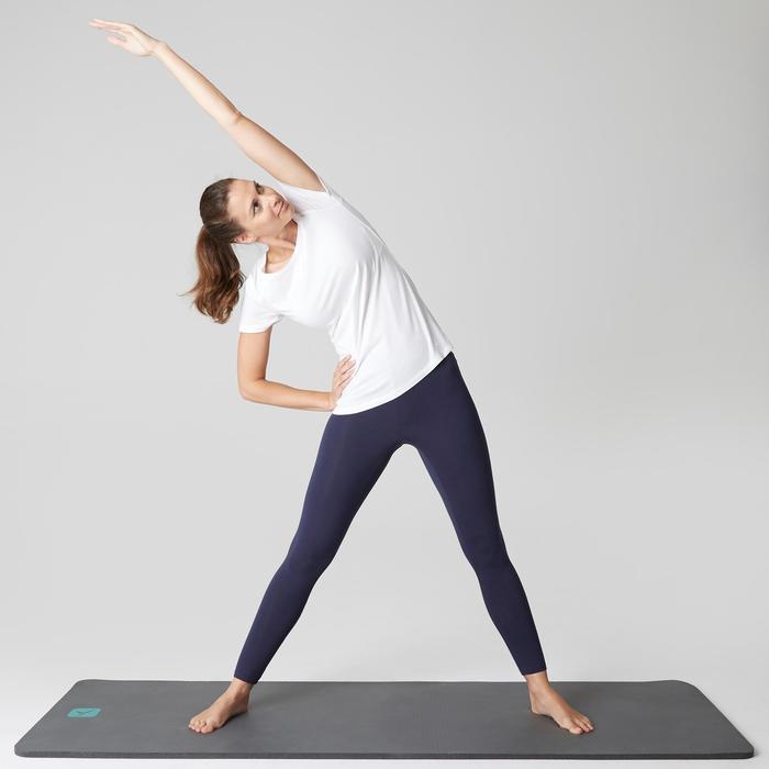 Legging Stretch 100 slim fit gym en stretching dames marineblauw
