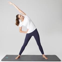 Legging voor pilates en lichte gym dames Stretch marineblauw