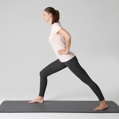 Legging Stretch 100 slim Pilates Gym douce femme gris