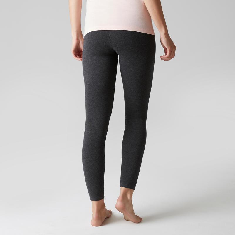 Legging sport Stretch femme en coton gris