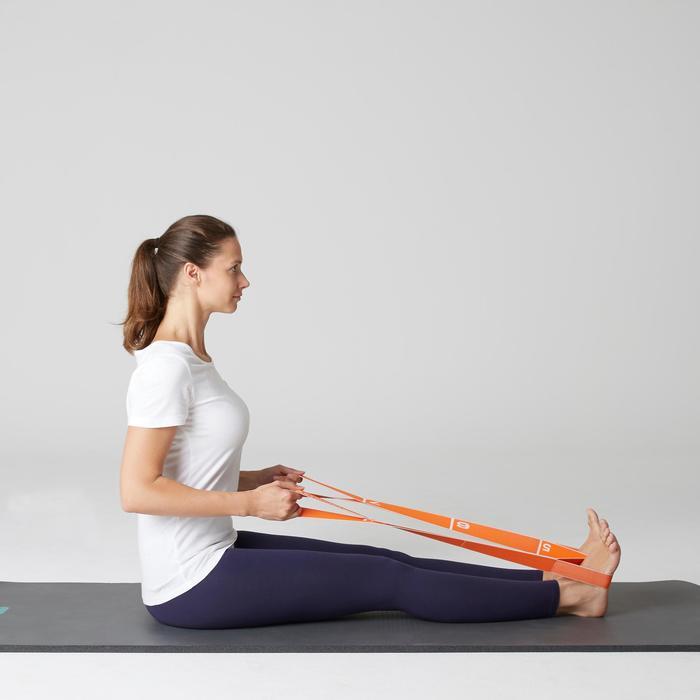 Legging Stretch 100 slim fit pilates en lichte gym dames marineblauw