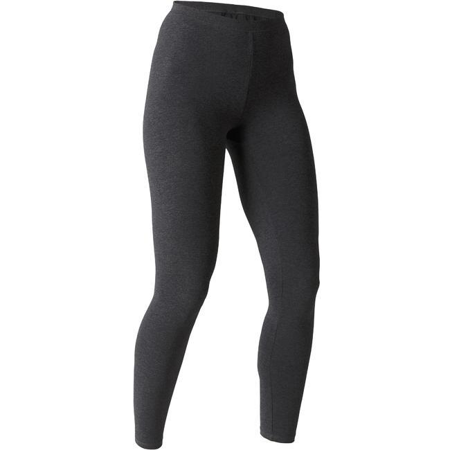 Women's Stretch Leggings 100 - Dark Grey Marl
