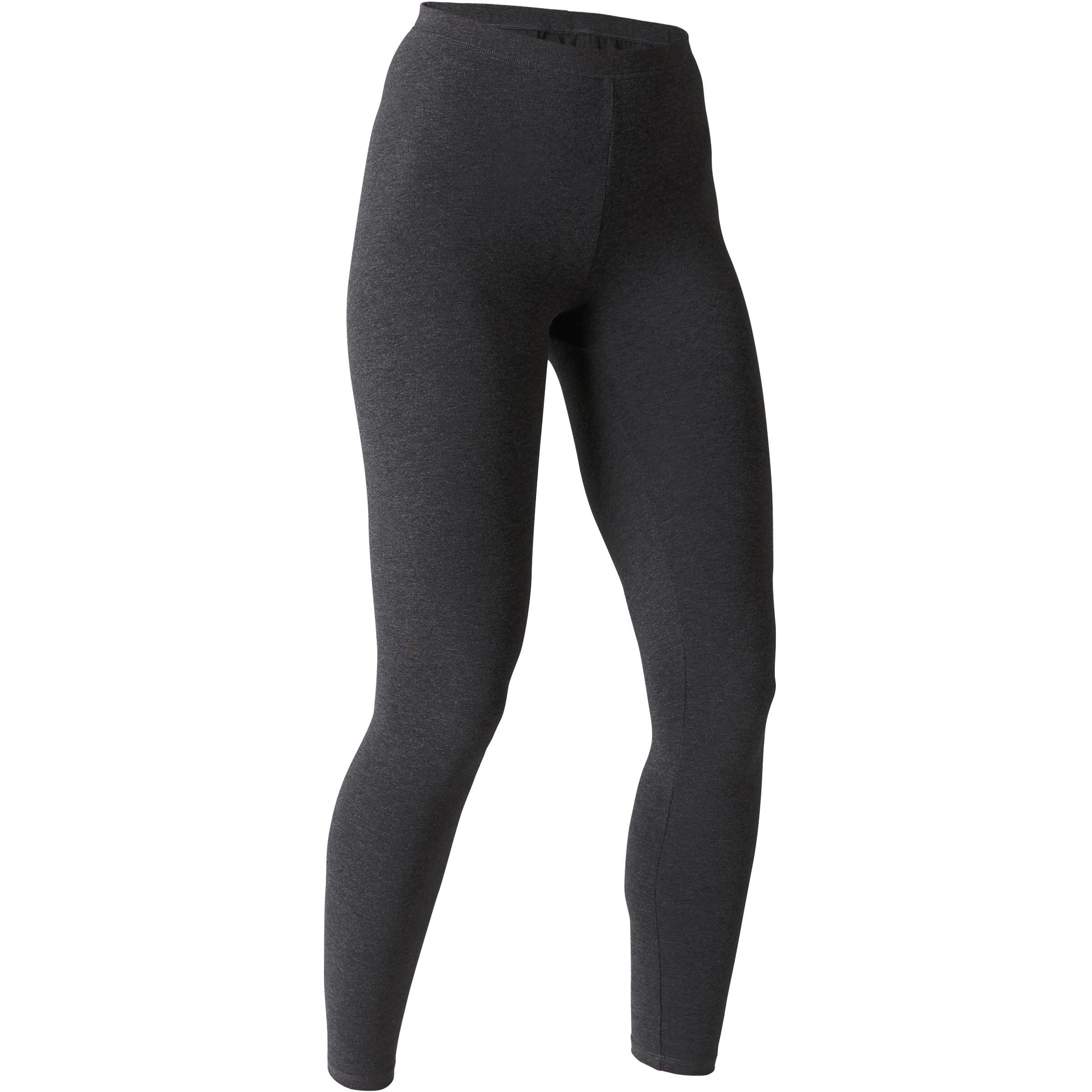 Legging Extensible 100 slim Gym étirements femme gris