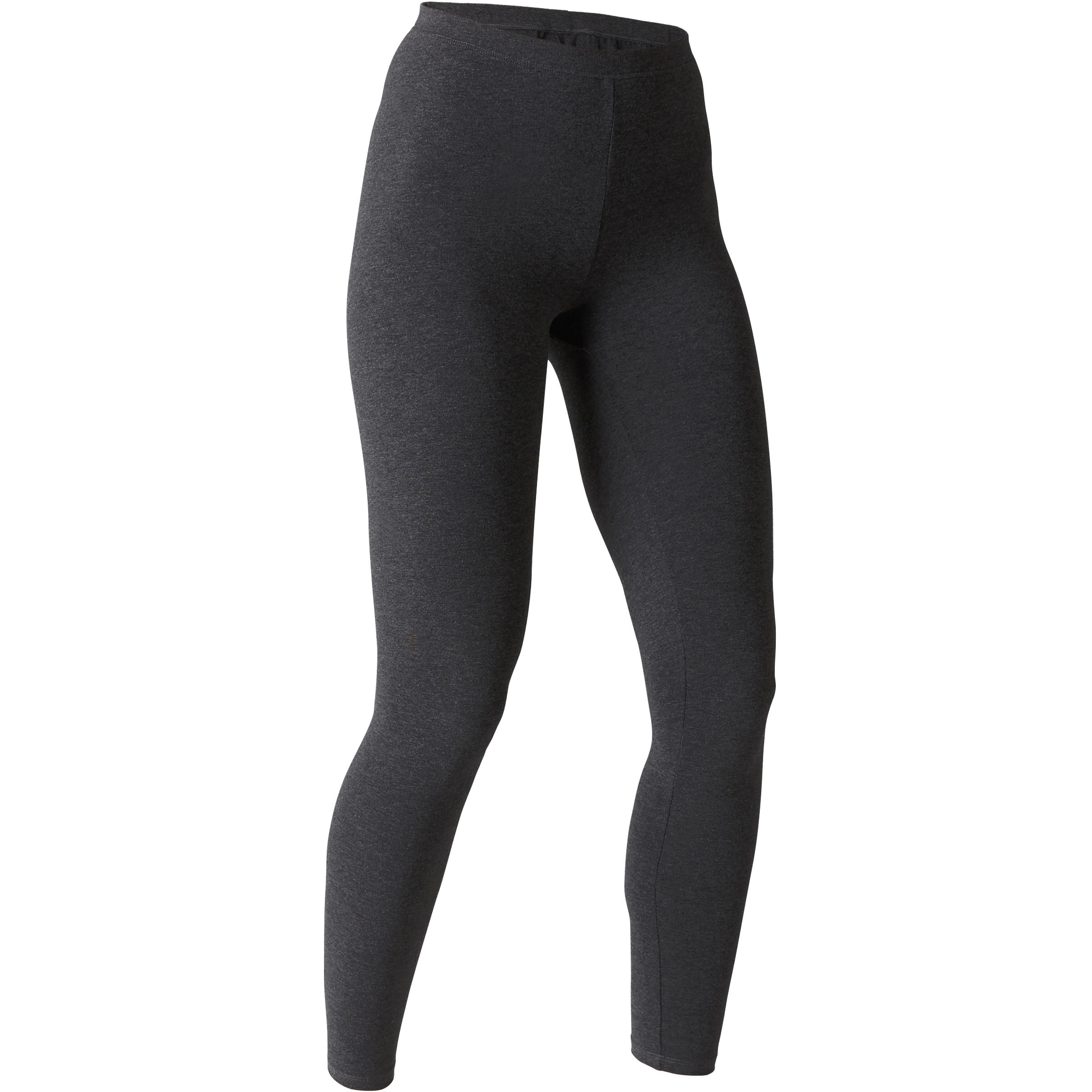 Leggings Stretch 100 slim Pilates y Gimnasia suave mujer gris