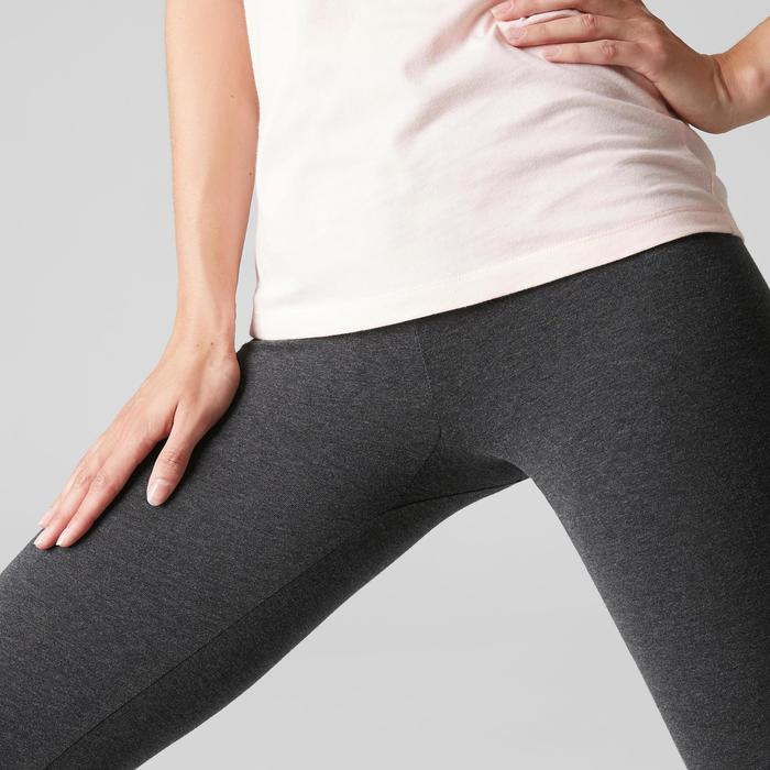 Leggings Stretch 100 Slim Gym & Pilates Damen grau
