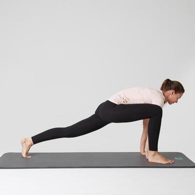 Жіночі легінси Stretch 100 для вправ на розтяжку, вузькі - Чорні