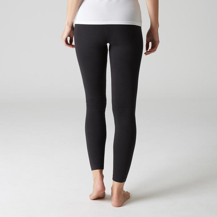 Leggings Fit+ 500 slim Pilates y Gimnasia suave mujer negro