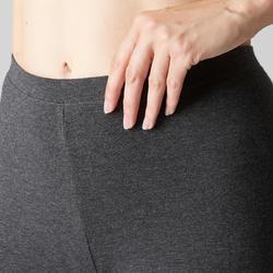 Gymlegging voor dames Stretch 100 donkergrijs gemêleerd