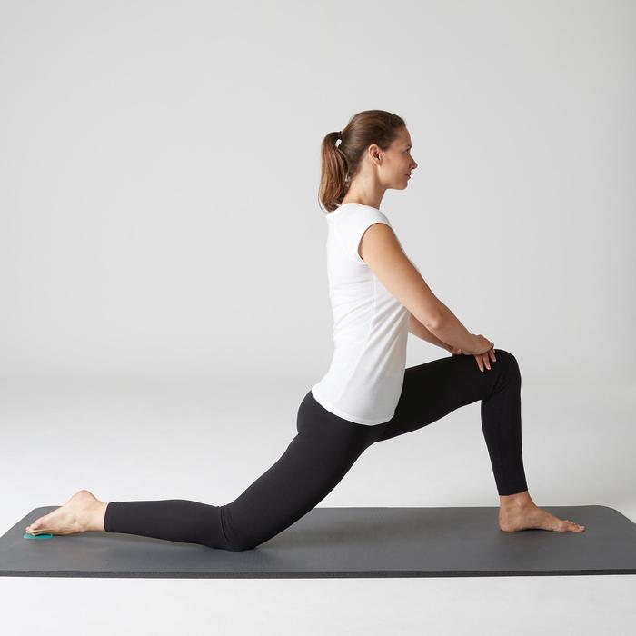 Leggings FIT+ 500 Slim Gym Stretching Damen schwarz