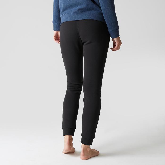 Pantalon 520 slim Gym Stretching femme noir