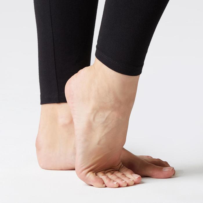 Legging voor pilates en lichte gym dames Stretch zwart