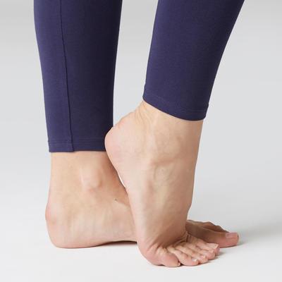 Legging Stretch 100 slim Pilates Gym douce femme bleu marine