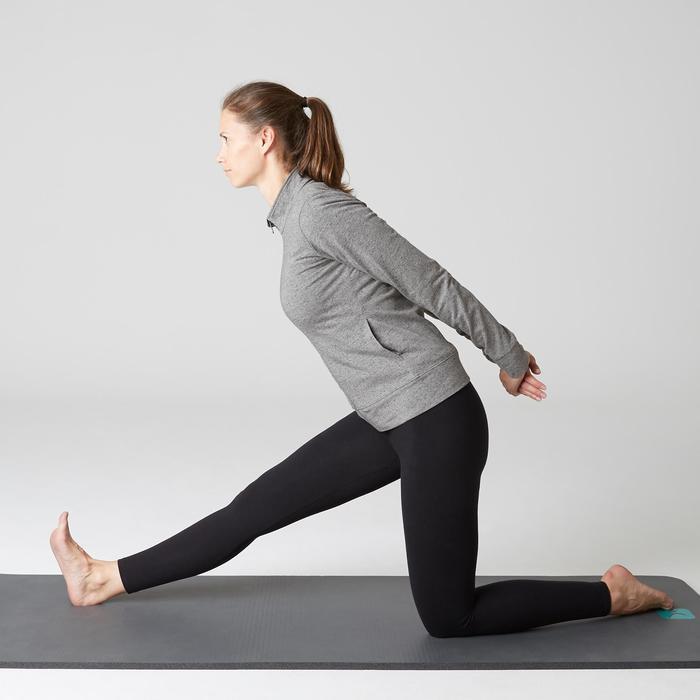 Damesvest voor pilates/lichte gym 100 gemêleerd grijs