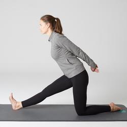 Vest 100 voor pilates en lichte gym dames gemêleerd grijs