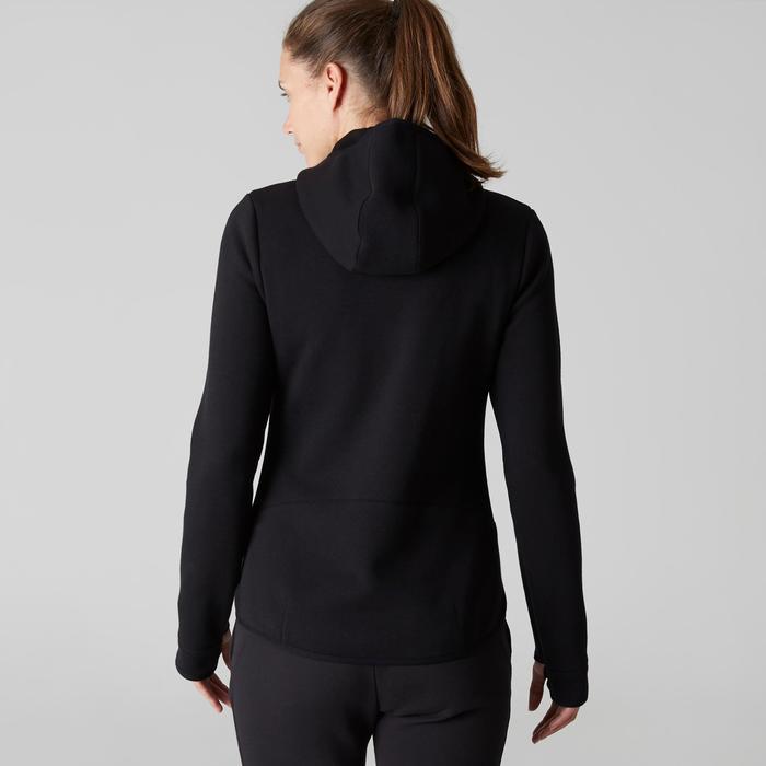 Veste 900 capuche Gym Stretching femme noir