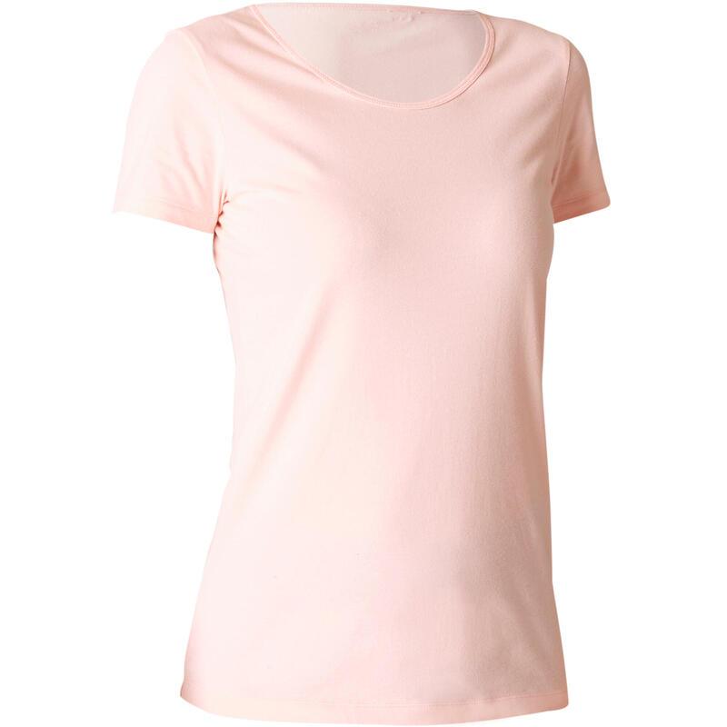 T-Shirt 100% Coton Fitness Rose