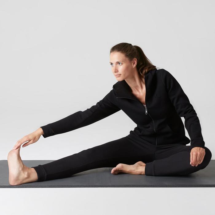 Kapuzenjacke 900 Gym Stretching Damen schwarz