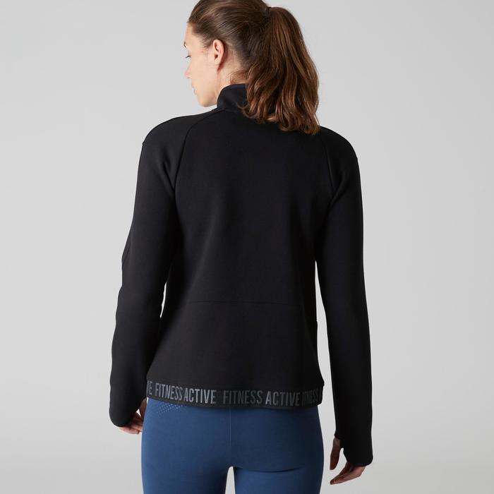 Damesvest 900 voor gym en stretching zwart