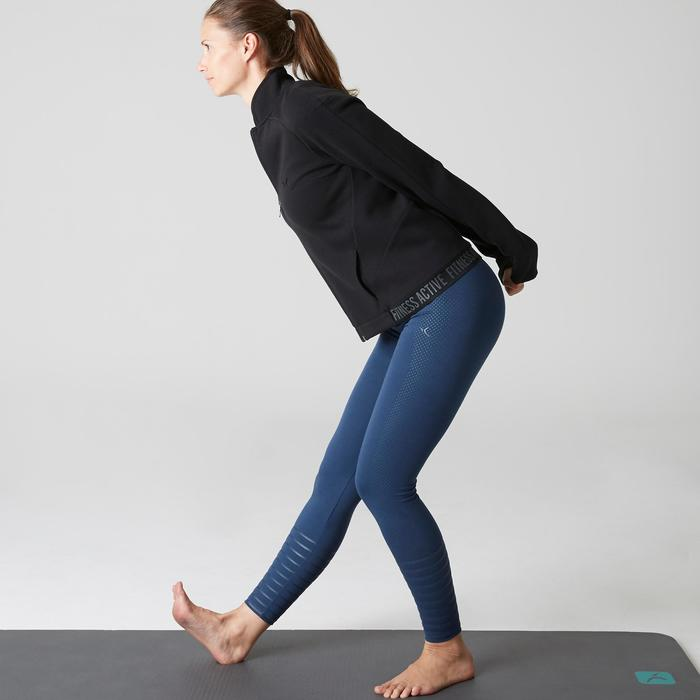 Trainingsjacke 900 Gym Stretching Damen schwarz