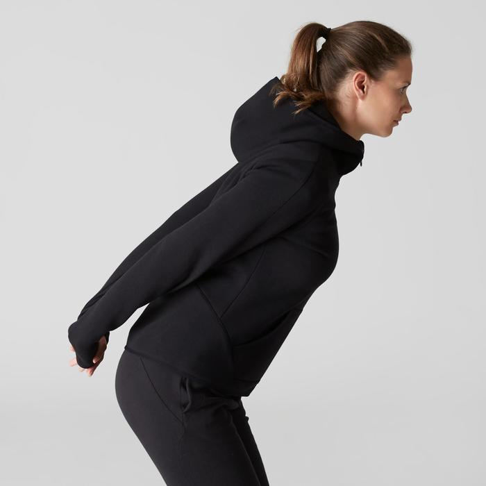 女款健身連帽外套900 - 黑色