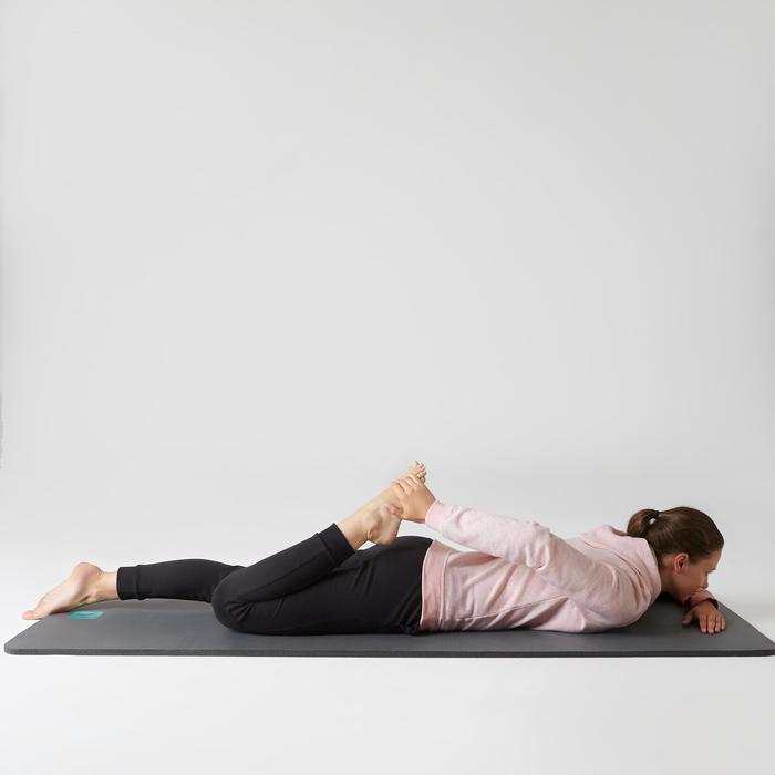Kapuzenpullover 520 Gym Stretching Damen hellrosameliert