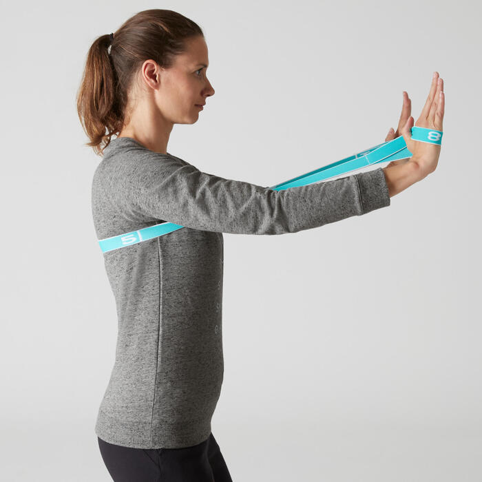 Sweat 500 Gym Stretching femme - 1507985