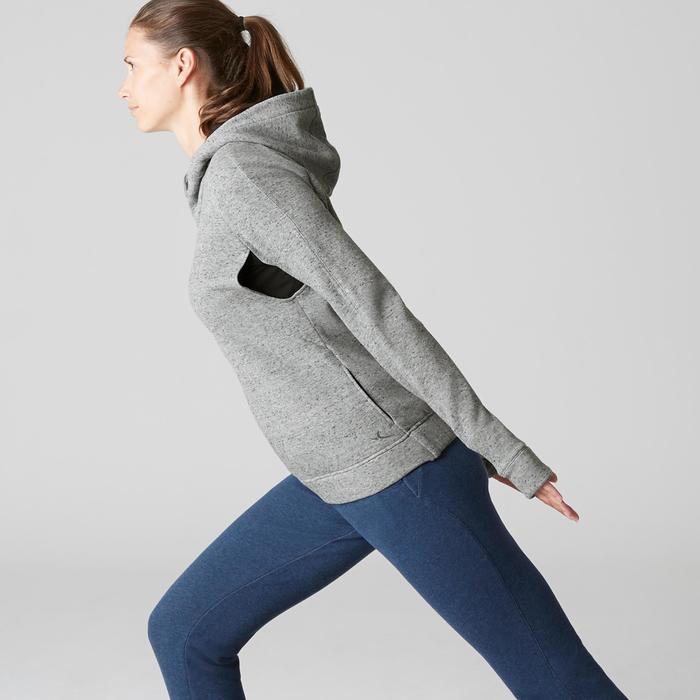 Dameshoodie met rits Free Move 540 voor gym en stretching grijs