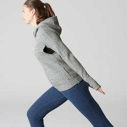 Veste Free Move 540 capuche Gym Stretching femme gris