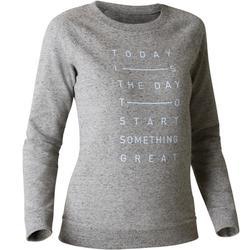 Damessweater 500 voor gym en stretching