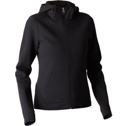 Kapuzenjacke 900 Gym Stretching Damen schwarz