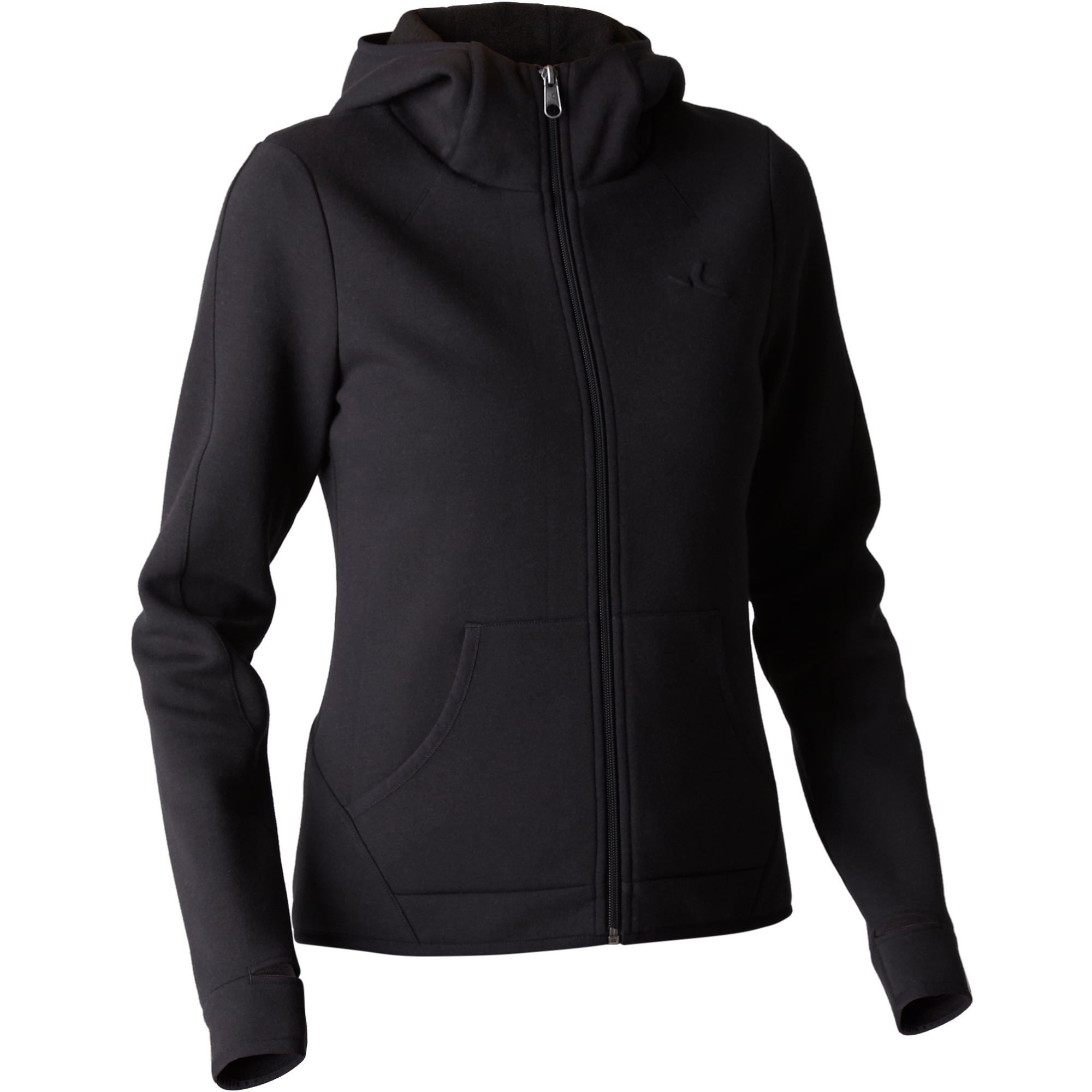Veste 900 capuchon gymnastique d'étirements femme noir