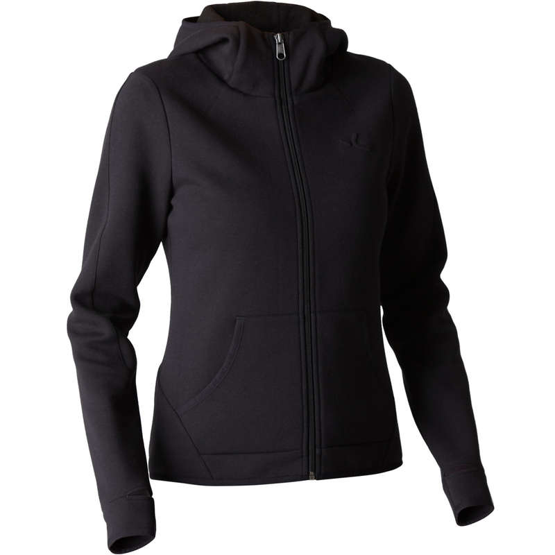 WOMAN PANT JACKET SWEAT Fitness and Gym - 900 Gym Hoody - Black NYAMBA - Gym Activewear